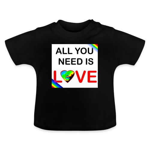 all you need is peace and love - T-shirt Bébé