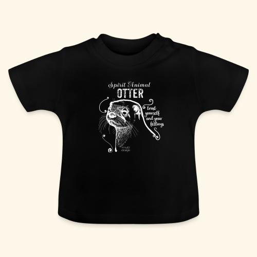Spirit Animal Otter weiß - Baby T-Shirt