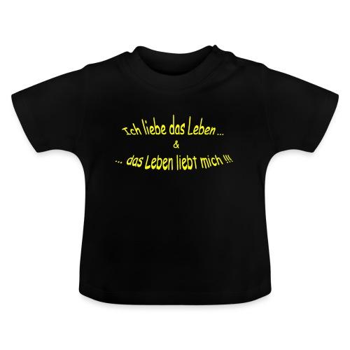 Ich-liebe-das-Leben-gelb - Baby T-Shirt