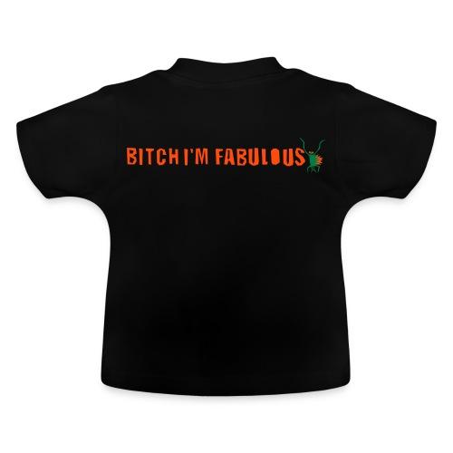 Bitch, I'm fabulous modliszka, długie - Koszulka niemowlęca