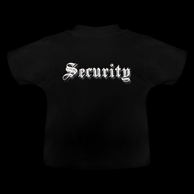 Security Schriftzug weiß