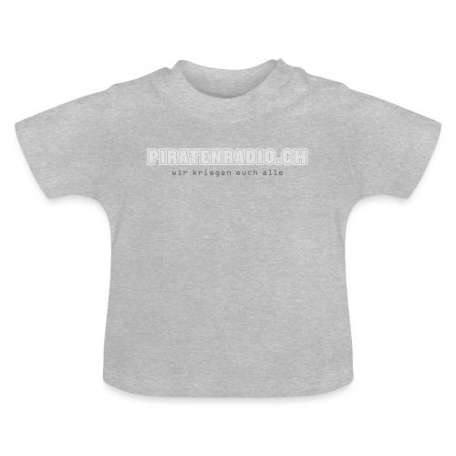logo piratenradio claim 25cm neg - Baby T-Shirt