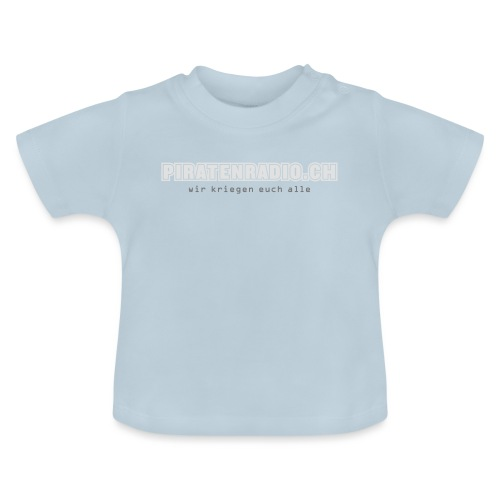 logo piratenradio claim 25cm neg - Baby T-Shirt