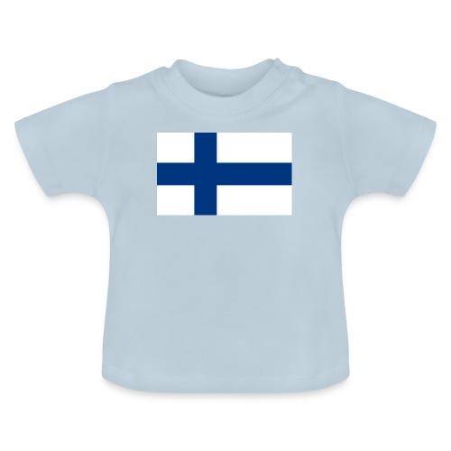 800pxflag of finlandsvg - Vauvan t-paita