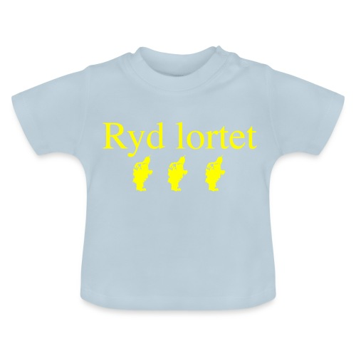Ryd lortet - Børnekollektion - Baby T-shirt