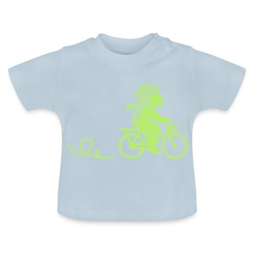 Züri-Leu beim Velofahren ohne Text - Baby T-Shirt