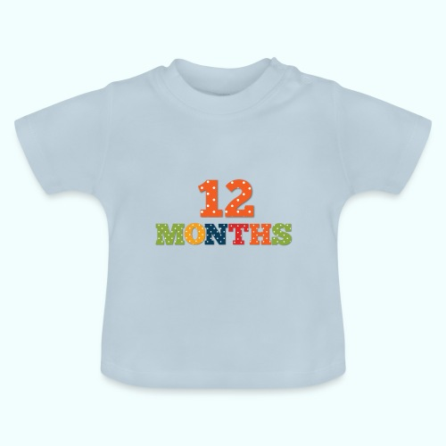 Twelve 12 months old baby print photography prop - Baby T-Shirt