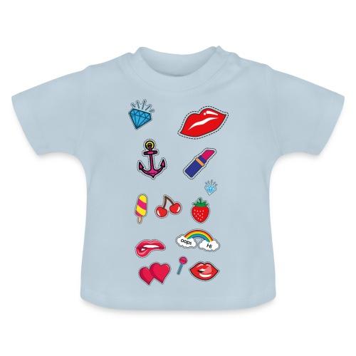 ecussons pop - T-shirt Bébé
