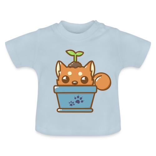 shiba inu timide - T-shirt Bébé
