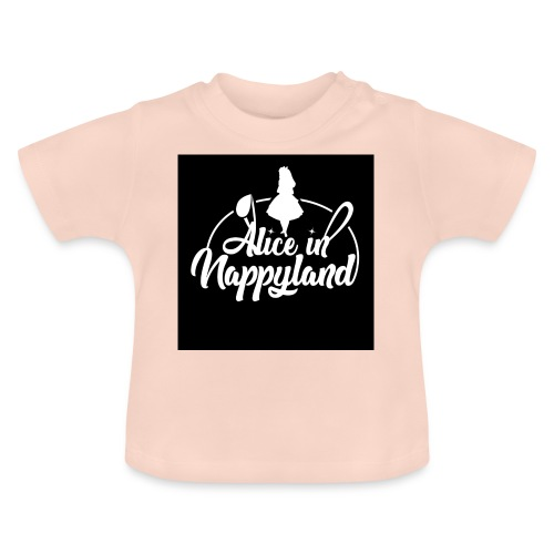 Alice in Nappyland TypographyWhite 1080 - Baby T-Shirt