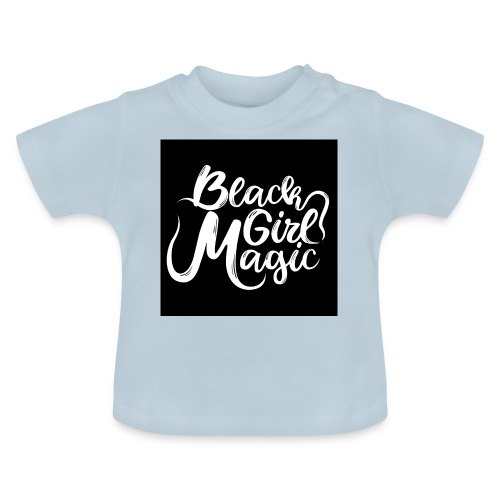 Black Girl Magic 1 White Text - Baby T-Shirt
