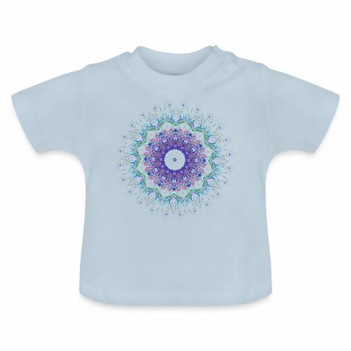 Lilla mandala pastel - Baby T-shirt