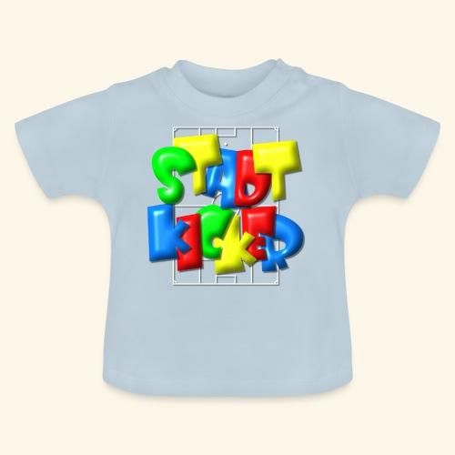 Stadtkicker im Fußballfeld - Balloon-Style - Baby T-Shirt