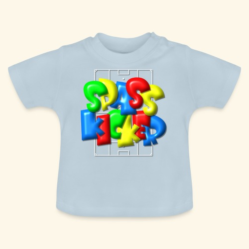 Spass Kicker im Fußballfeld - Balloon-Style - Baby T-Shirt