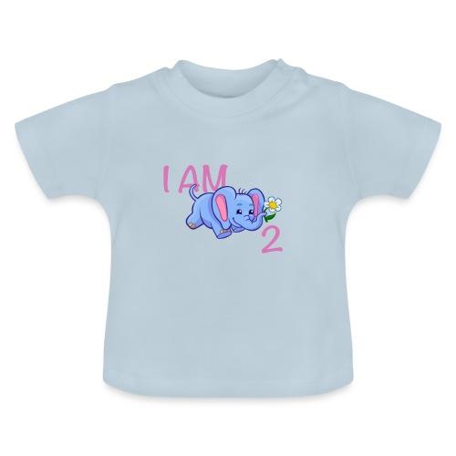 I am 2 - elephant pink - Baby T-Shirt