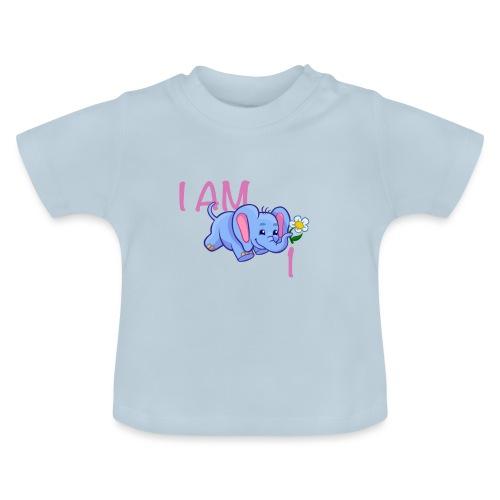 I am 1 - elephant pink - Baby T-Shirt