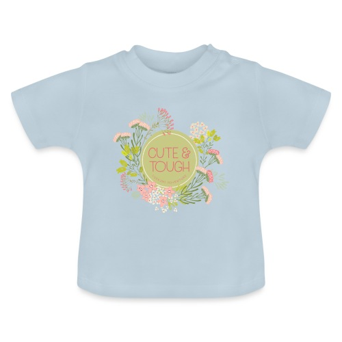 Cute and tough - grön - Baby-T-shirt