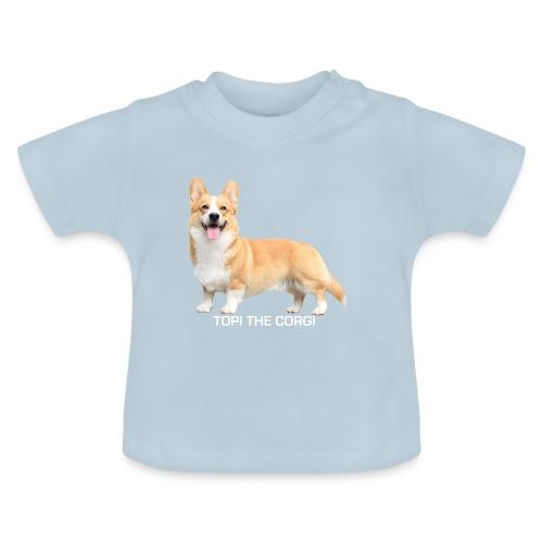 Topi the Corgi - White text - Baby T-Shirt