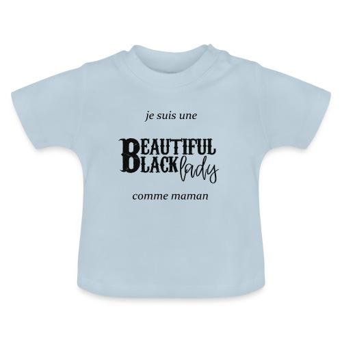 comme maman black - T-shirt Bébé
