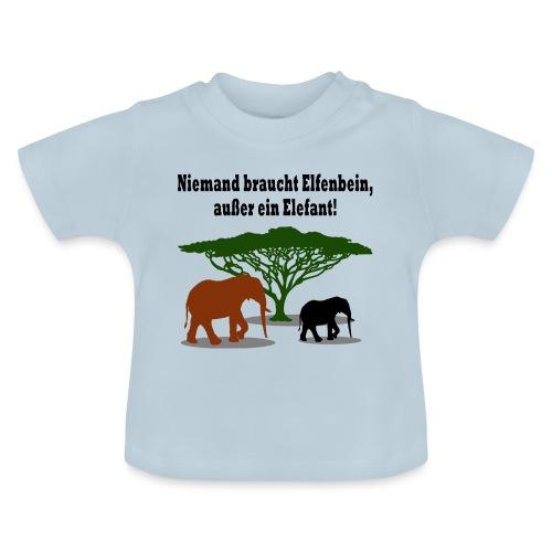 Niemand braucht Elfenbein, außer ein Elefant! - Baby T-Shirt