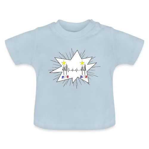 coupe du monde 2018 électrocardiogramme les bleus - T-shirt Bébé