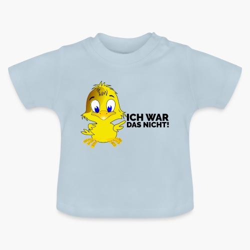 Ich war das nicht Schriftzug schwarz - Baby T-Shirt