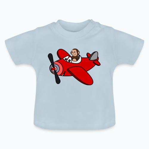 Monkey Moe - Appelsin - Baby-T-shirt