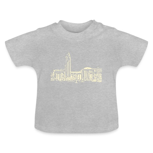Helsinki railway station pattern trasparent beige - Baby T-Shirt