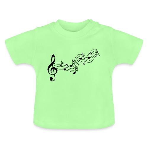 Musiknoten - Baby T-Shirt