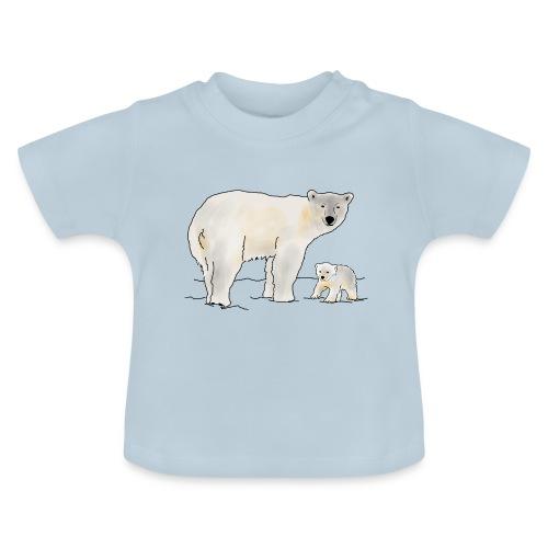 Eisbär mit Jungtier - Baby T-Shirt