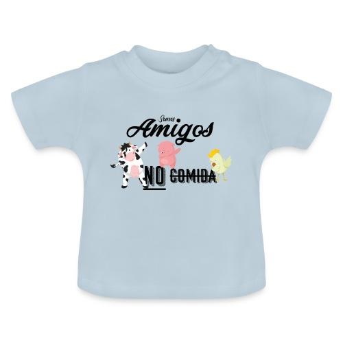 Somos amigos no comida - Camiseta bebé
