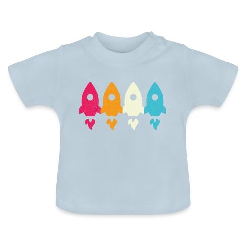 Retro Vintage Rakete Raumschiff Kinder Baby - Baby T-Shirt