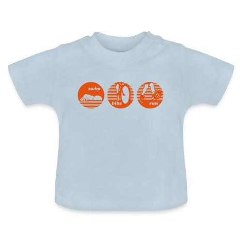 swim bike run Triathlon Sport - Baby T-Shirt