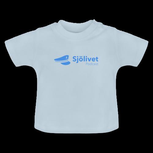 Sjölivet podcast - Svart logotyp - Baby-T-shirt