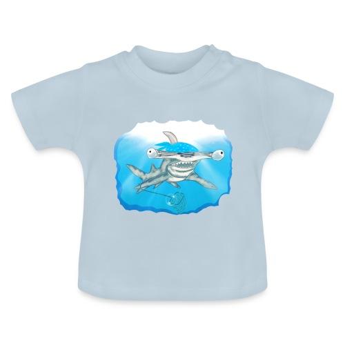 Hunting hammer fish design print - Baby T-Shirt