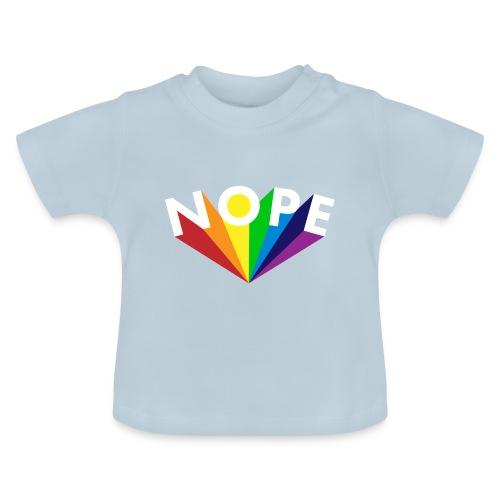 Nope Nö Nein als Regenbogen - Baby T-Shirt