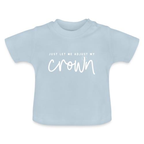Crown white - Baby-T-shirt