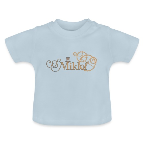 miklof logo gold outlined 3000px - Baby T-Shirt