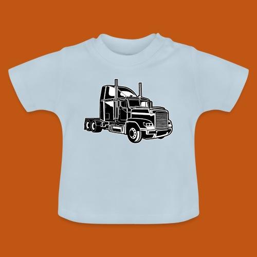 Truck / Lkw 02_schwarz weiß - Baby T-Shirt