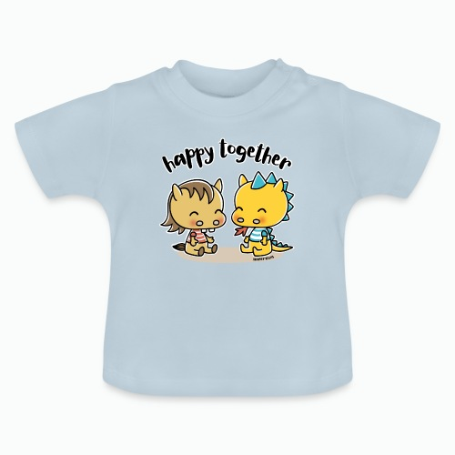 Happy Together - Pferd und Drache - Baby T-Shirt