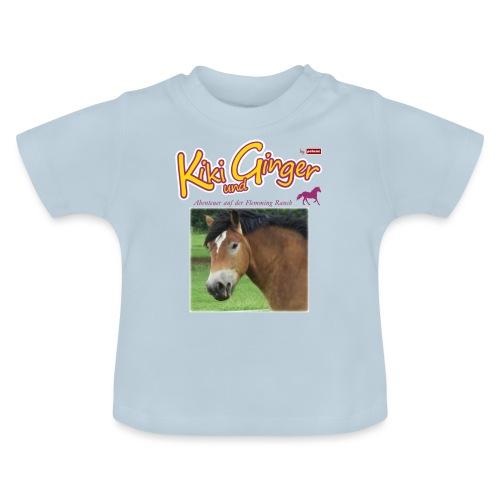 patame Kiki und Ginger mit Golden Sky weiss - Baby T-Shirt