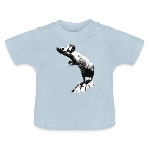 Seisova nakuhiiri - mustavalko - Vauvan t-paita