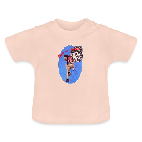 Vintage Rockabilly Butterfly Pin-up Design - Baby T-Shirt