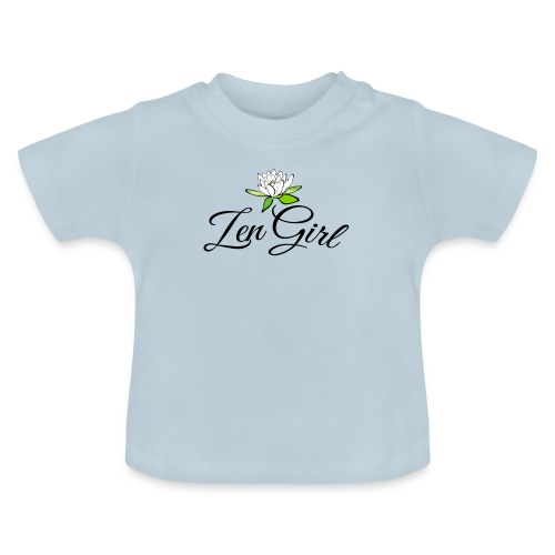 zengirl with lotusflower for purity in life - Baby-T-shirt