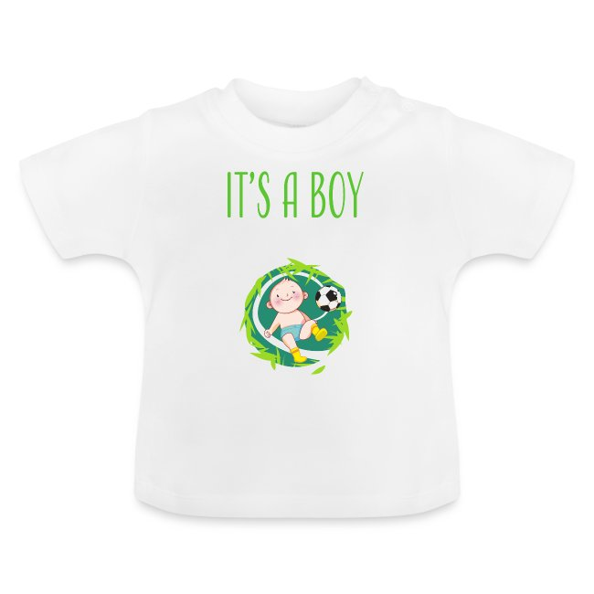 It's a Boy Fußball. Witzige Umstandsmode T-Shirt
