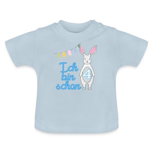 Ich bin schon 4 / Geschenk zum 4. Geburtstag. - Baby T-Shirt