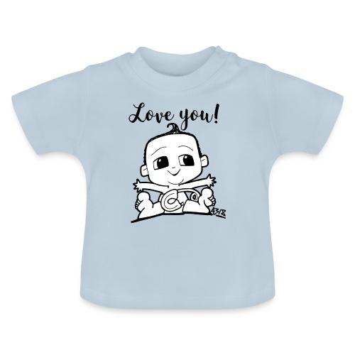 baby boy blackwhite - Baby T-shirt