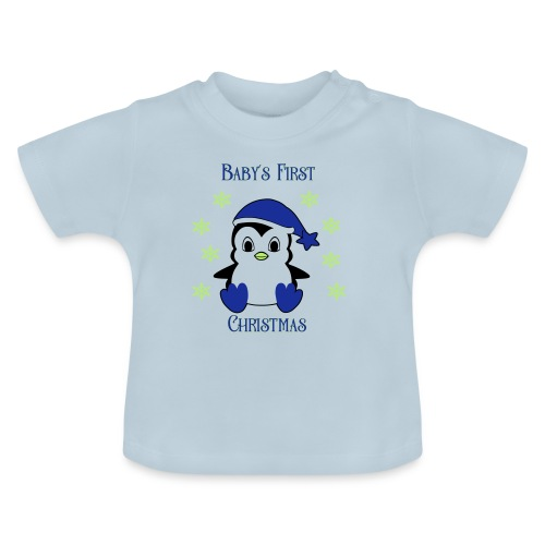 Penguin boy first christmas - Baby T-shirt