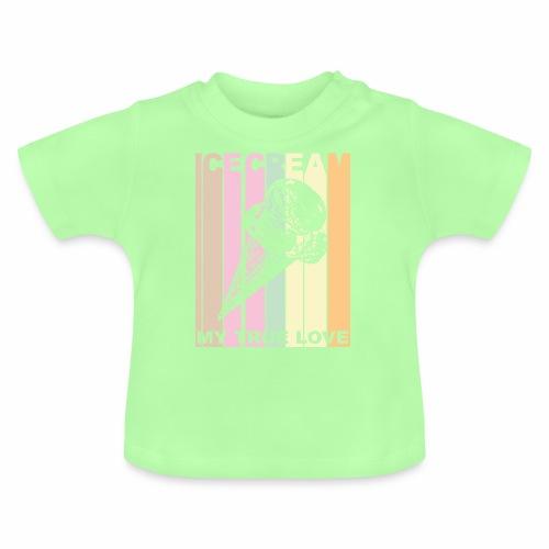 Ice Cream T-shirt Design im Vintage Look - Baby T-Shirt