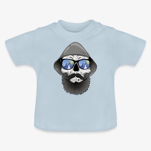 Totenkopf mit sonnenbrille und hut - Baby T-Shirt